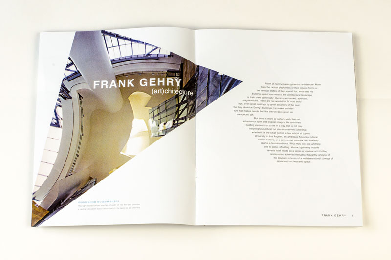 Frank Gehry Booklet Spread 1